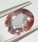 Unheated 2.25 Orange Sapphire from Tanga, Tanzania